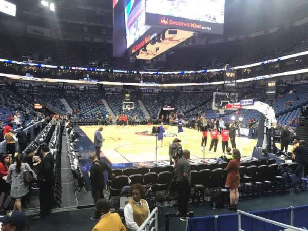 Smoothie King Center, section: 120, row: 5, seat: 3