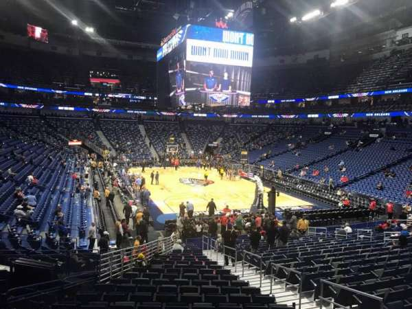 Smoothie King Center, section: 108, row: 23, seat: 7