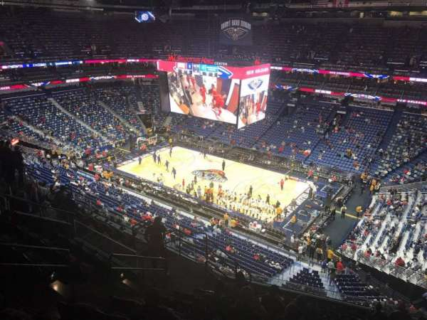 Smoothie King Center, section: 313, row: 12, seat: 14