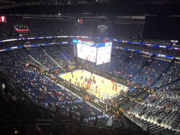 Smoothie King Center, section: 312, row: 17, seat: 14