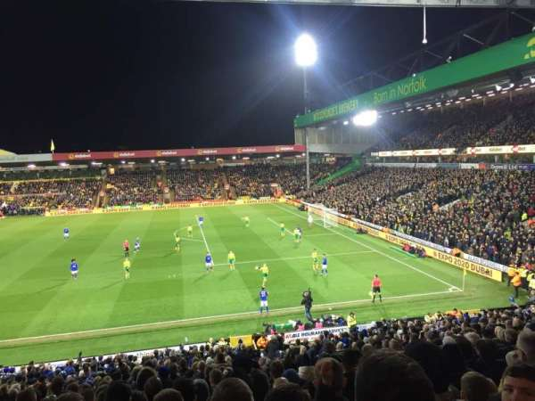 Carrow Road, section: South Stand, row: EE, seat: 50