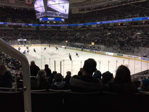 SAP Center, section: 110, row: 22, seat: 14