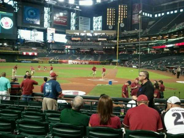 Chase Field, section: L, row: G , seat: 8