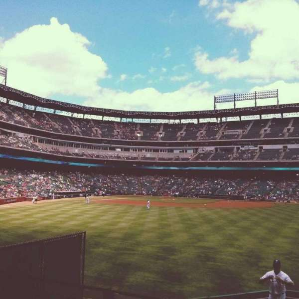 Globe Life Park in Arlington, section: 52, row: 3, seat: 7