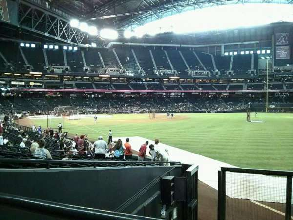 Chase Field, section: 108, row: 125, seat: 12