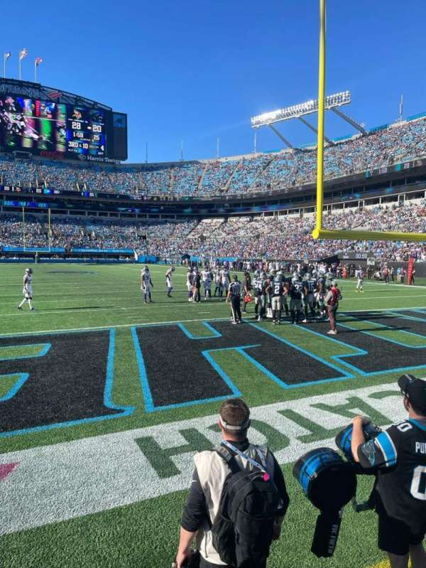 Bank of America Stadium, section: 122, row: 1, seat: 7