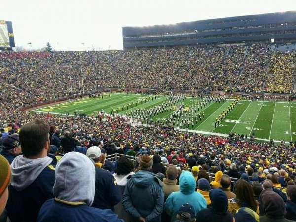 Michigan Stadium, section: 43, row: 82, seat: 24