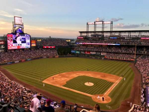 Coors Field, section: U333, row: 11, seat: 9
