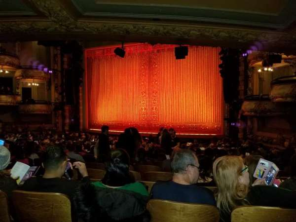 New Amsterdam Theatre, section: Orchestra R, row: U, seat: 6