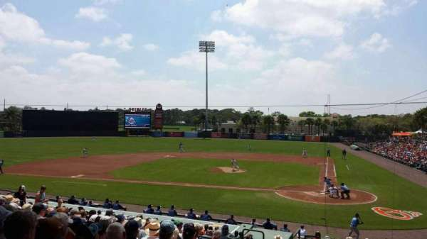 Ed Smith Stadium, section: 215, row: 14, seat: 20