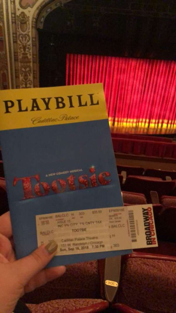Cadillac Palace Theater, section: Balcony LC, row: H, seat: 304