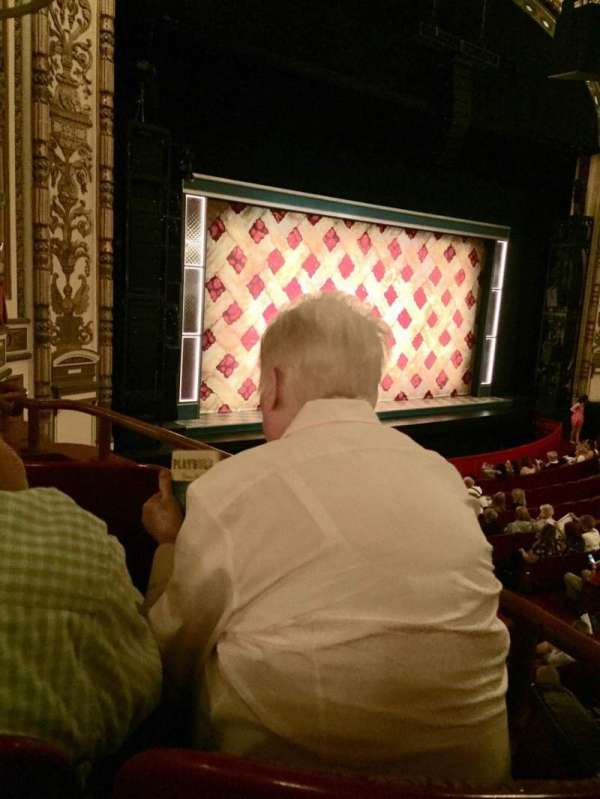 Cadillac Palace Theater, section: Dress Circle L, row: EE, seat: 3