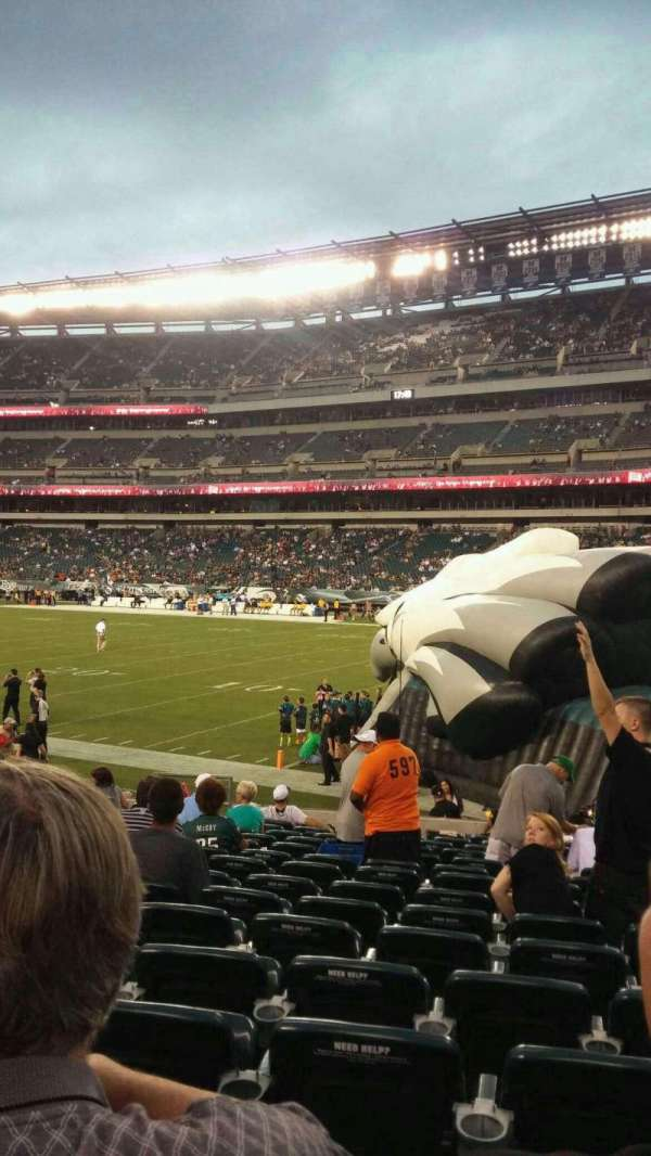 Lincoln Financial Field, section: 106, row: 15