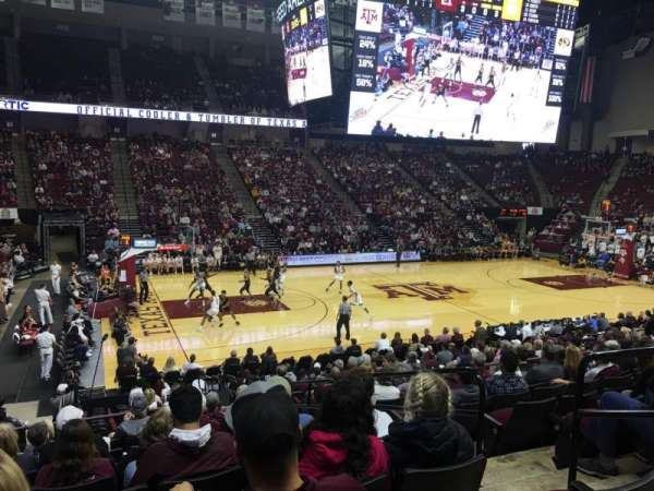 Reed Arena, section: 107, row: K, seat: 4