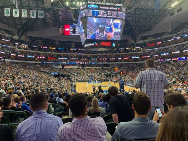 American Airlines Center, section: 101, row: N, seat: 18