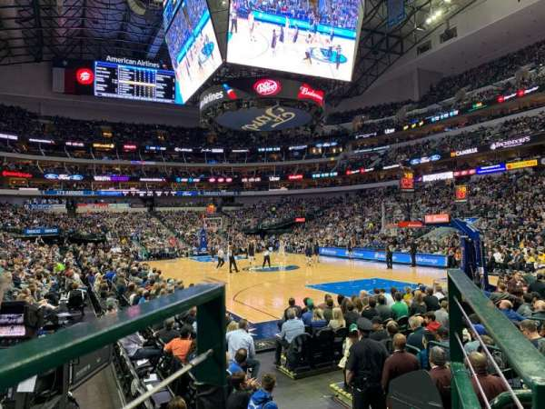 American Airlines Center, section: 103, row: B, seat: 4