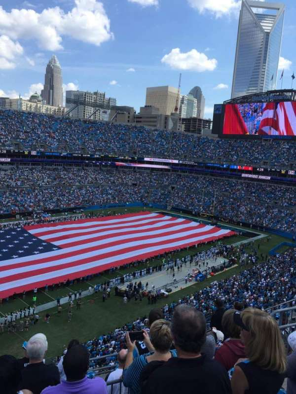 Bank Of America Stadium, section: 547, row: 4, seat: 15