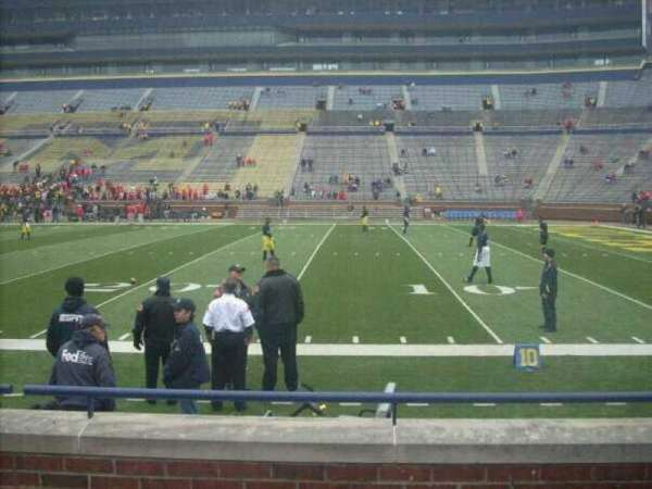 Michigan Stadium, section: 20, row: 2, seat: 2