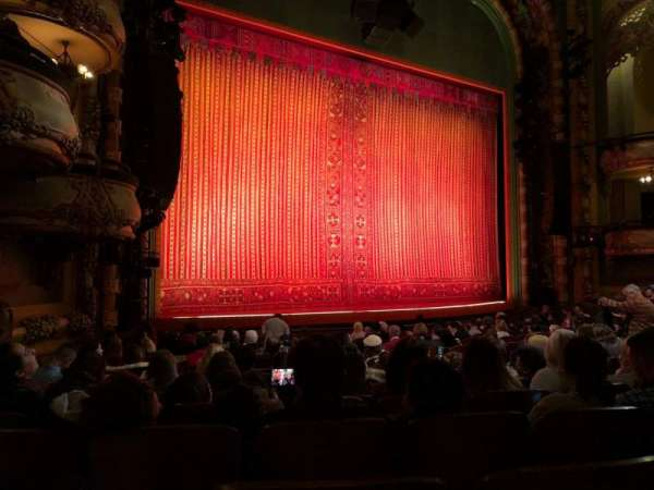 New Amsterdam Theatre, section: Orchestra L, row: P, seat: 19