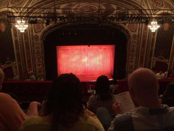 Cadillac Palace Theater, section: Balcony LC, row: O, seat: 308