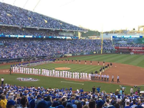 Kauffman Stadium, section: 237, row: Kk, seat: 11