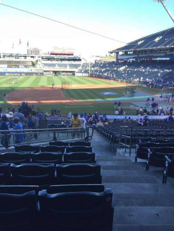 Kauffman Stadium, section: 219, row: JJ, seat: 11