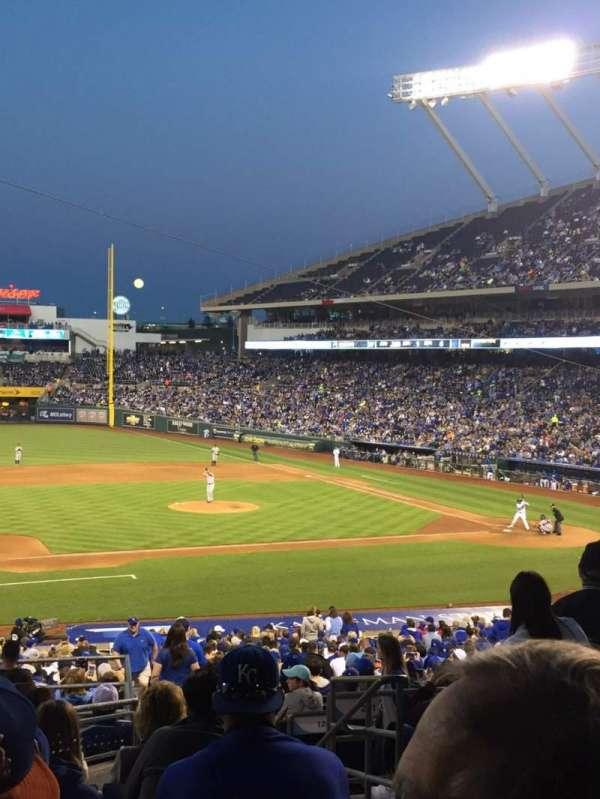 Kauffman Stadium, section: 219, row: Jj, seat: 10