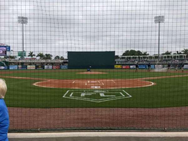Hammond Stadium at CenturyLink Sports Complex, section: 107, row: 1, seat: 6