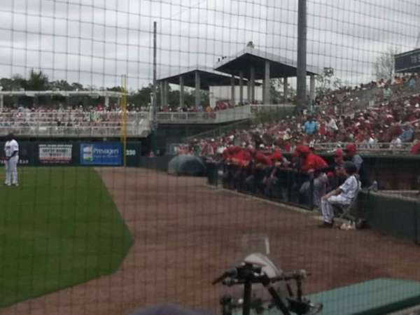Hammond Stadium at CenturyLink Sports Complex, section: 108, row: 1, seat: 5