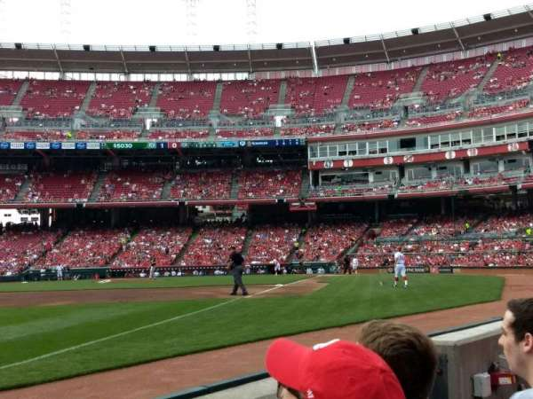 Great American Ball Park, section: 111, row: B, seat: 6