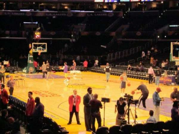 Staples Center, section: 117, row: 18