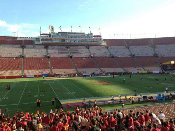Los Angeles Memorial Coliseum, section: 123B, row: 21, seat: 16