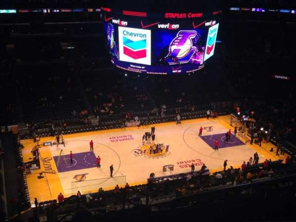 Staples Center, section: 303, row: 11, seat: 4
