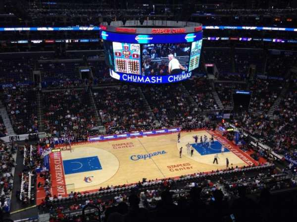 Staples Center, section: 319, row: 8, seat: 12