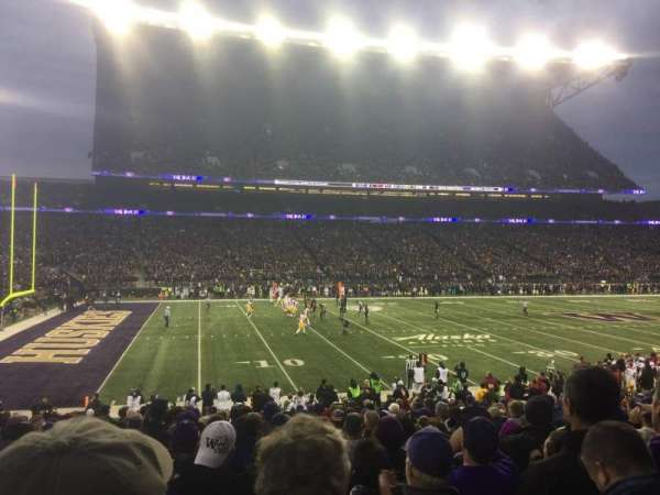 Husky Stadium, section: 109, row: 16, seat: 6