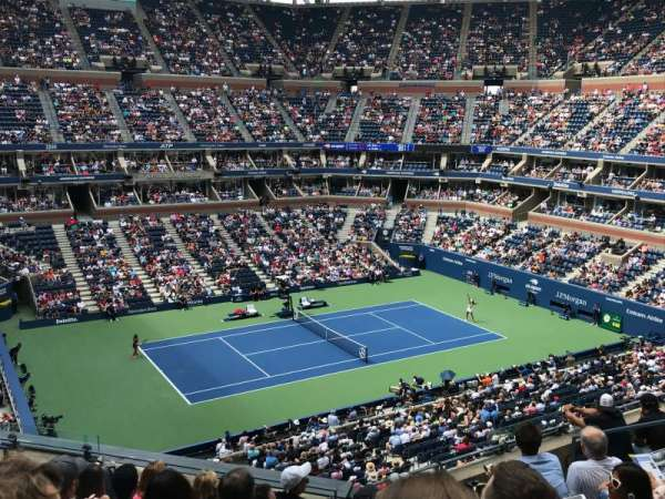 Arthur Ashe Stadium, section: 107, row: G, seat: 7