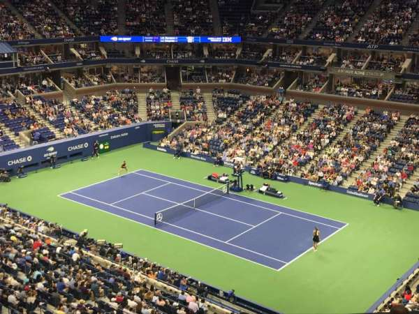 Arthur Ashe Stadium, section: 114, row: M, seat: 1