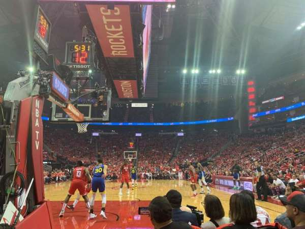 Toyota Center, section: C126A, row: B, seat: 12