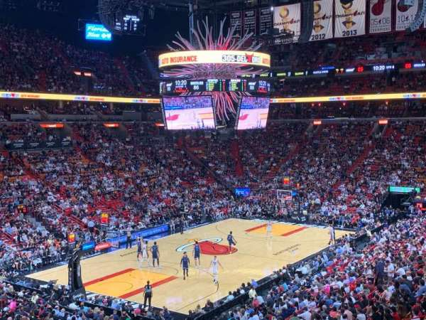 American Airlines Arena, section: 122, row: 34, seat: 10