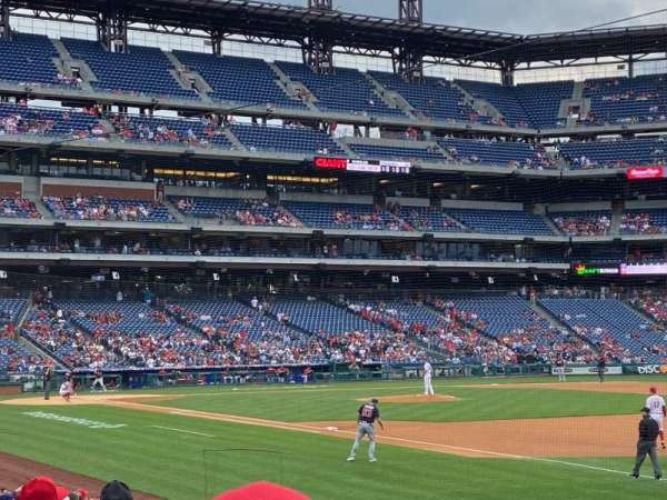 Citizens Bank Park, section: 111, row: 18, seat: 9