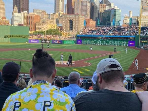 PNC Park, section: 117, row: K, seat: 19
