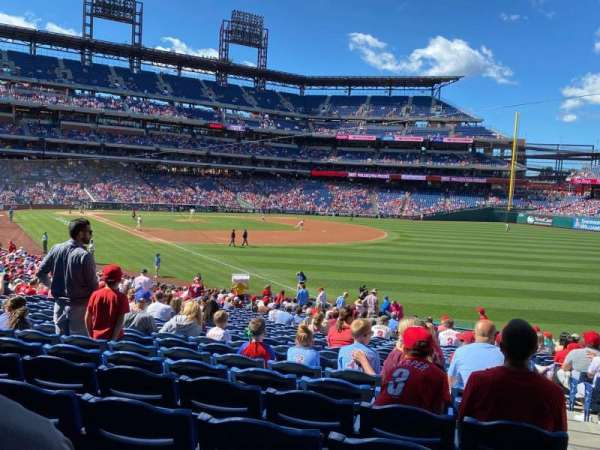 Citizens Bank Park, section: 109, row: 34, seat: 2