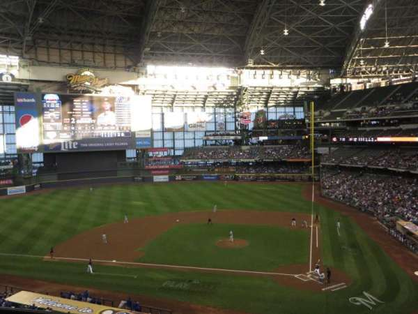 Miller Park, section: 335, row: 2, seat: 8