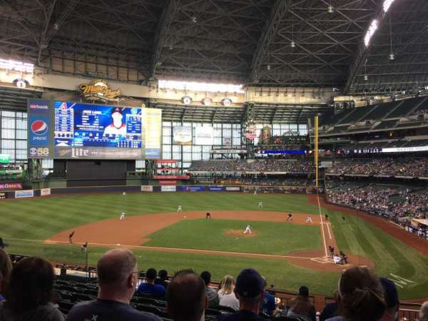 Miller Park, section: 222, row: 9, seat: 7
