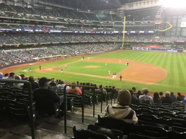 Miller Park, section: 211, row: 18, seat: 2