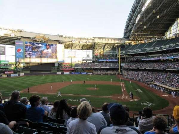 Miller Park, section: 222, row: 6, seat: 7