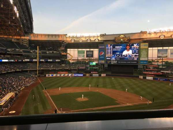 Miller Park, section: 325, row: 1, seat: 2