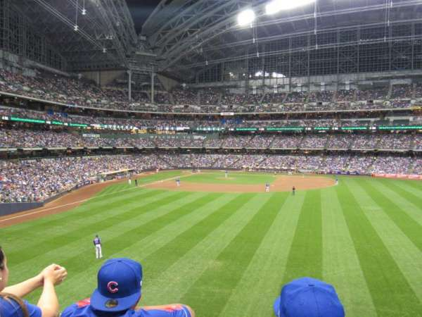 Miller Park, section: 202, row: 2, seat: 4