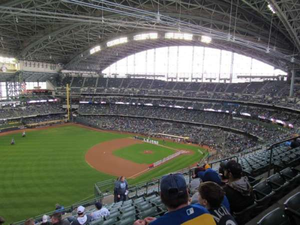 Miller Park, section: 434, row: 20, seat: 10