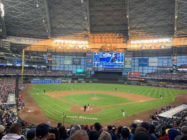 Miller Park, section: 218, row: 8, seat: 18